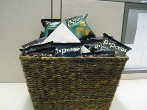 Popchips on display