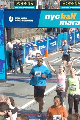 DSB Dori NYC Half Finish