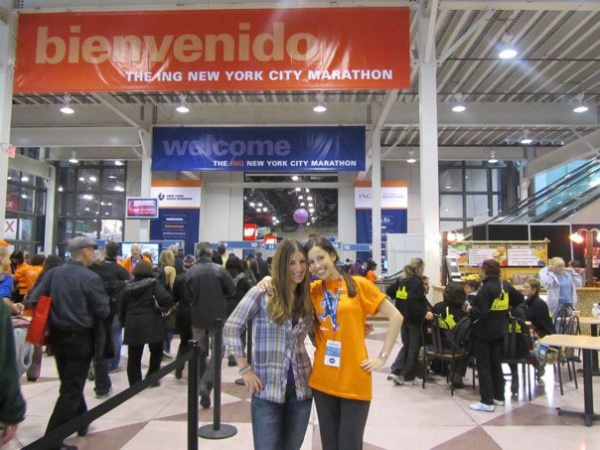 Dori and Missy at 2010 ING NYC Marathon Expo