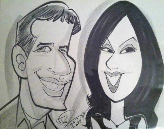 Dori and Andy caricature