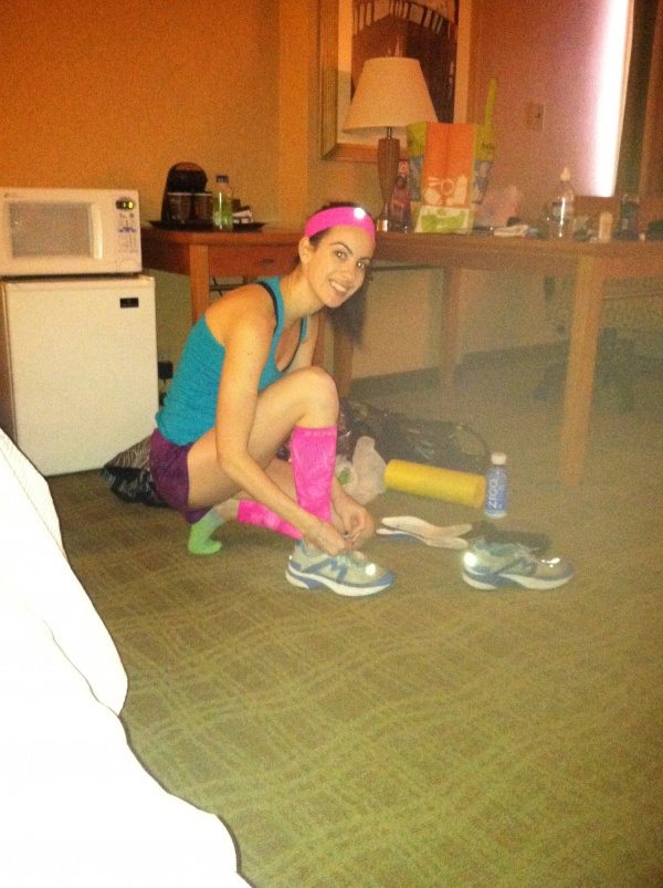 Dori getting ready for Richmond Half Marathon
