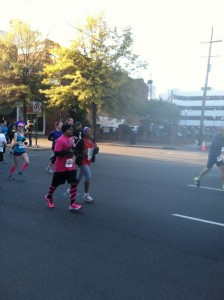 Dori in mile 1 of Richmond Half Marathon