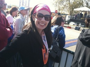 Dori at Richmond Marathon finish line