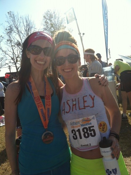 Dori and Ashley in Richmond Marathon