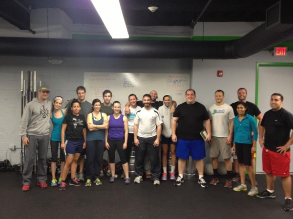 Dori and Andy graduating CrossFit Jersey City Fundamentals
