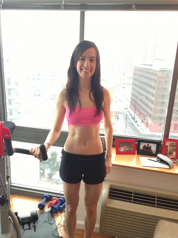 Photo of Dori's abs after Refine Resolution Challenge