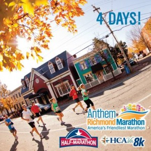 4 days until Richmond Marathon