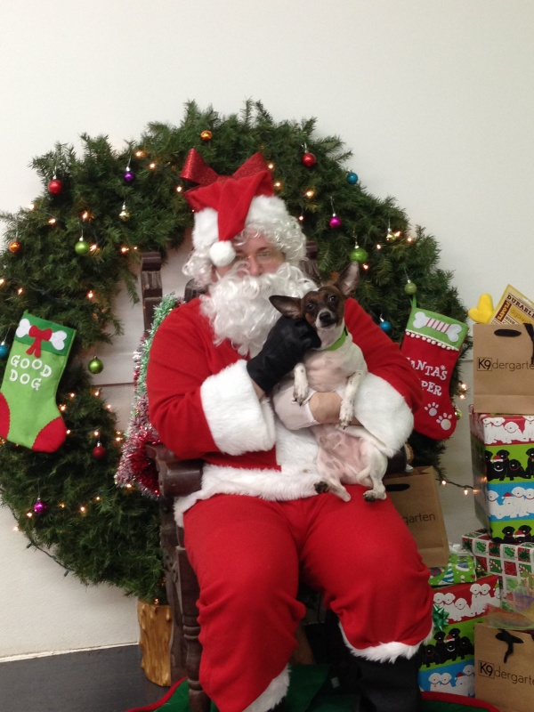 Larry with Santa