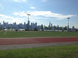 If you have to do a track workout, might as well do it with a view