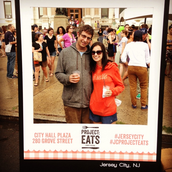 Dori and Andy at Jersey City Project: Eats