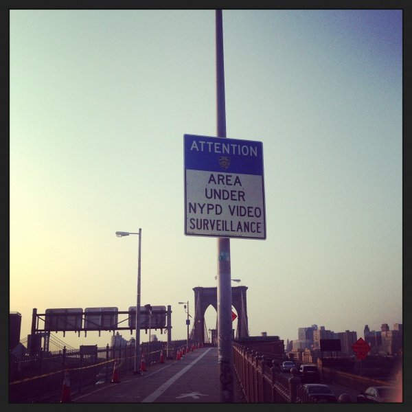 Brooklyn Bridge sign - Dori's Shiny Blog