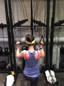 Me doing a lat pulldown